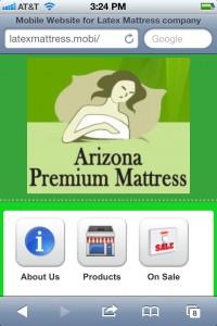 Arizona Mattress Mobile Website for Phoenix
